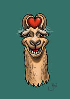 The Llama loves  you all by Maxiator