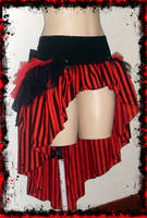 Stripe Circus Bow Skirt by annaladymoon