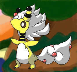 Mega Ampharos by Soupified