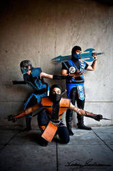 Scorpion, Sub Zero and Frost by TheLinKueiNinja