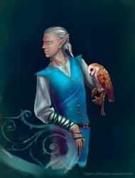 Elf and the barn owl by Egirin