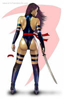 Psylocke Back by Dan-DeMille