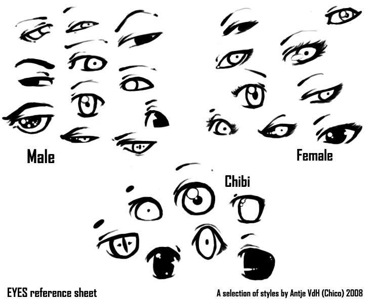 eyes reference sheet  b by chicoritango on deviantart