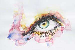 Watercolour Eye by ScrawlTheatre