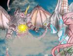 KAIJU WAR: Iris vs. Destoroyah by AVGK04