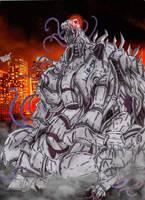 Lost Kaiju: Berserk (Technological Abomination) by AVGK04