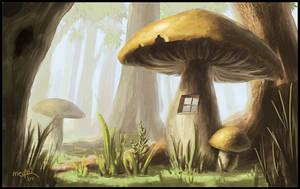 Mushroom house by Medhi
