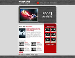 Freestyle Football Players's website design by SkinnyDesigns
