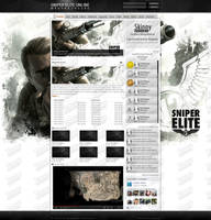 Sniper Elite Online Hungary's website design by SkinnyDesigns