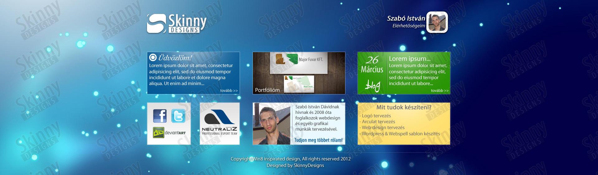 Portfolio webdesign inspirated by Windows 8 by SkinnyDesigns