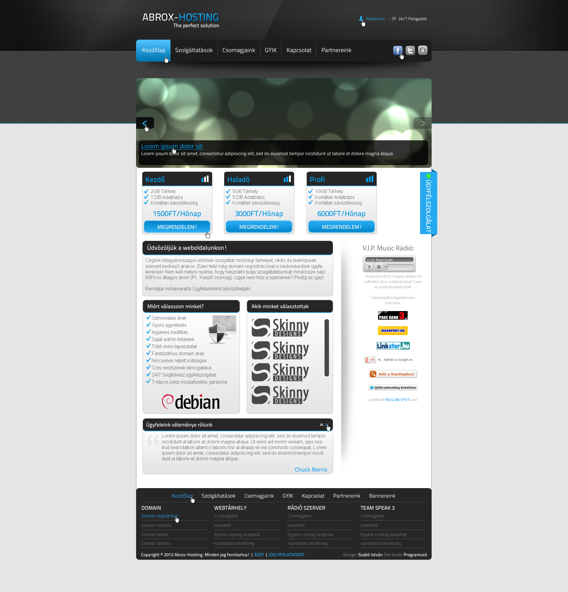 Abrox-Hosting's webdesign by SkinnyDesigns