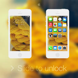 iOS 7 - Yellow by BesQ