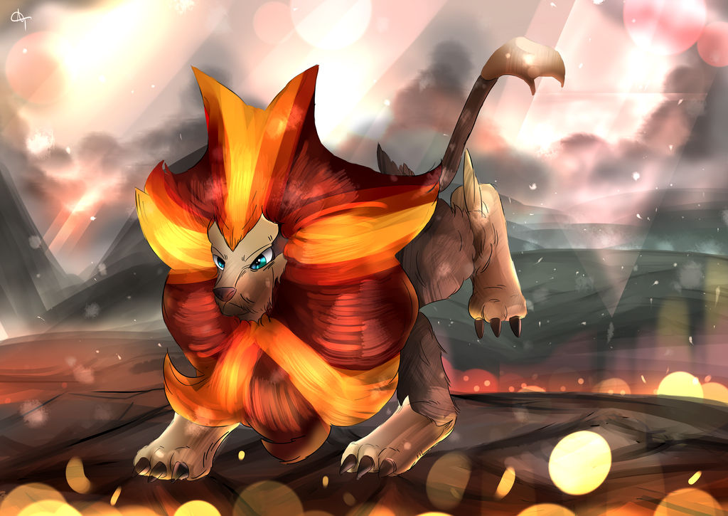 Day 190 - Kaenjishi | Pyroar (Male) by AutobotTesla