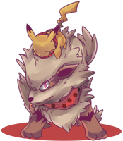 Custom Windie | Arcanine and Pikachu Commission by AutobotTesla