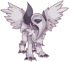 Mega Absol Commission by AutobotTesla