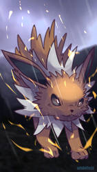 Day (606) 125 ROUND TWO - Thunders | Jolteon by AutobotTesla