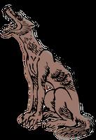 Clipart Honshu Wolf by hansendo