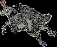 Clipart Wild boar by hansendo