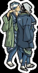 Suspicious men in the Edo-period by hansendo