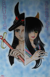 DIOSES: Anubis and Bastet by ehatsumi
