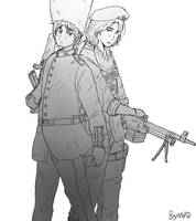 Hetalia Guard and Soldier by partee6554