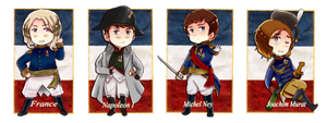 Napoleonic Wars Chibi Set1 by partee6554