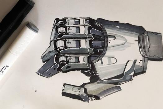 Robot hand rendering by vishruthkumar