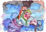 Babushka and her amazing tabby by HamidM