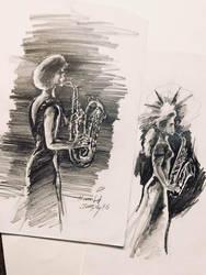 sax girls by HamidM