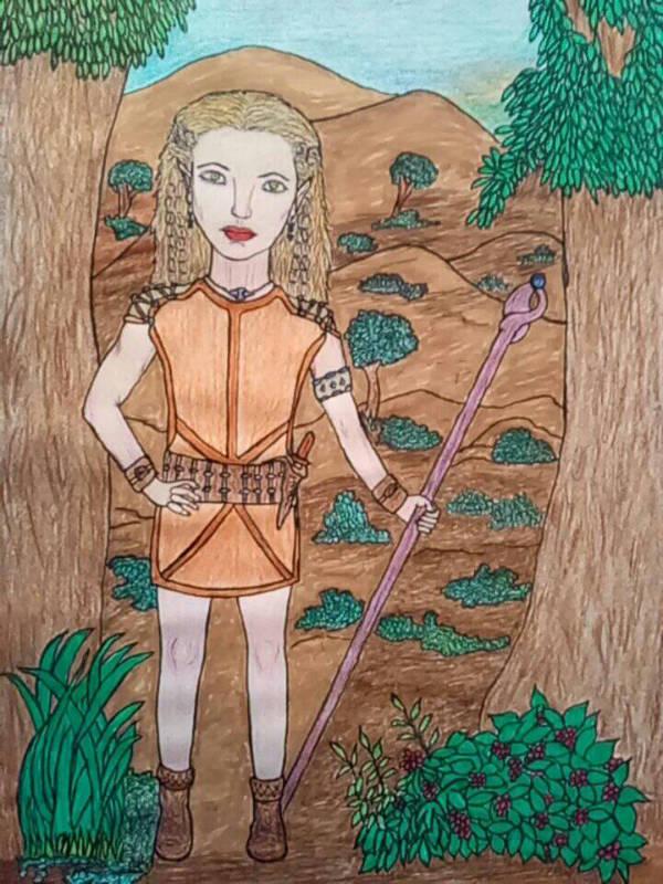 Elf Warrior Vlydah by anasofiajc