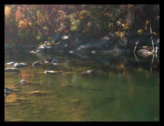 Wenatchee River by xmanhazel