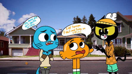 Darwin Gumball and Gumball  by Shania67
