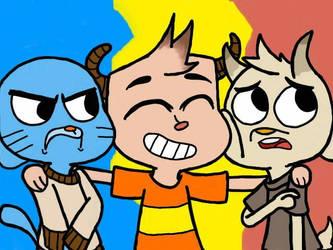 Gumball, Kiki and Chi chi  by Shania67
