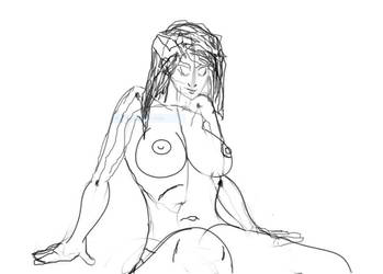 Topless Girl Sketch by Septimus-Prime