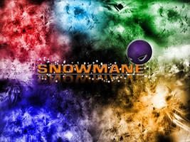 Snowman Wallpaper by atomiccc