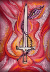 Ace of Swords by amberfishy