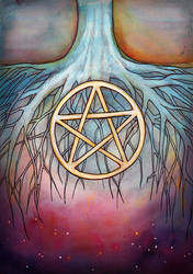 Ace of Pentacles by amberfishy