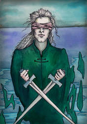 Two of Swords by amberfishy