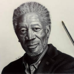 morgan freeman by matinshafiei