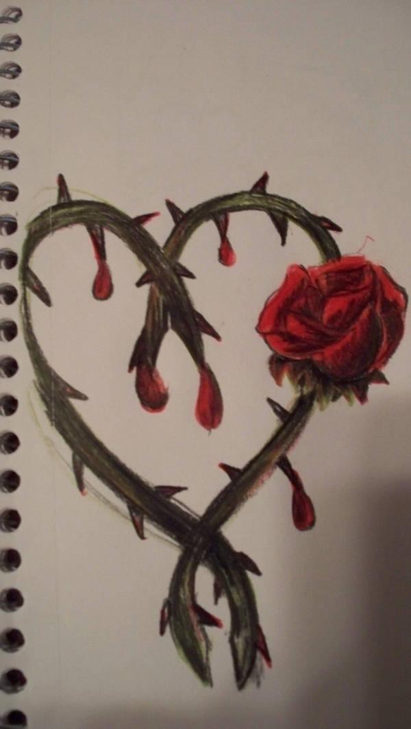 Rose Heart Tattoo Design By Aerocrue13 On Deviantart