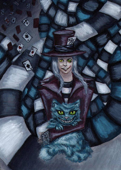 Mad Hatter and the Cheshire Cat by zzSnowWhiteQueenzz