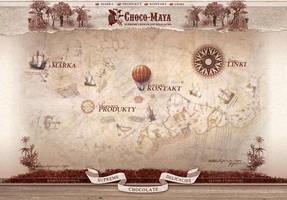 Choco Maya website layout by xaay