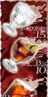 Drinks menu layout by xaay