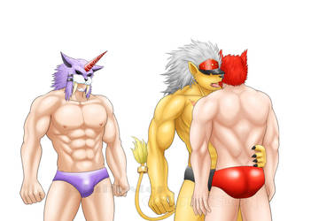 3 Digimon Men by St-Alpha
