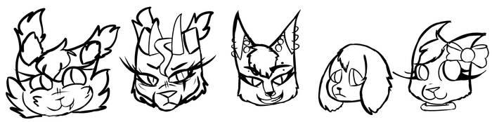 Paw Team (AKA my main characters) by kitten226