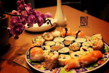 Sushi Feast No. 1 *^_^* by watermelon-riceball