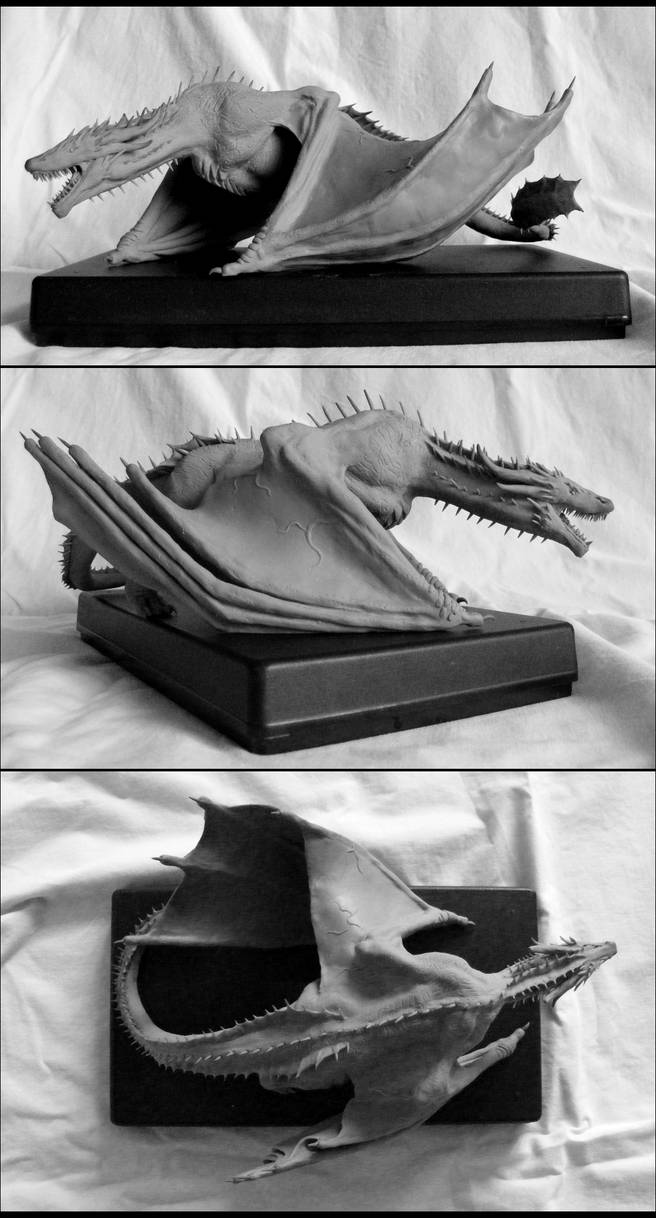 Drogon Sculpture by OneMinuteSketch