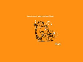 Calvin and Hobbes Ipod by i-punk