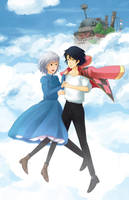 Howl And Sophie by immuni
