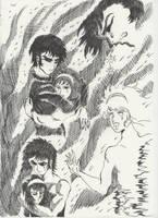 akira e miki, devilman by freesoul93